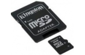 Карта памяти MicroSDHC 16Gb Kingston (Class 4) + SD adapter